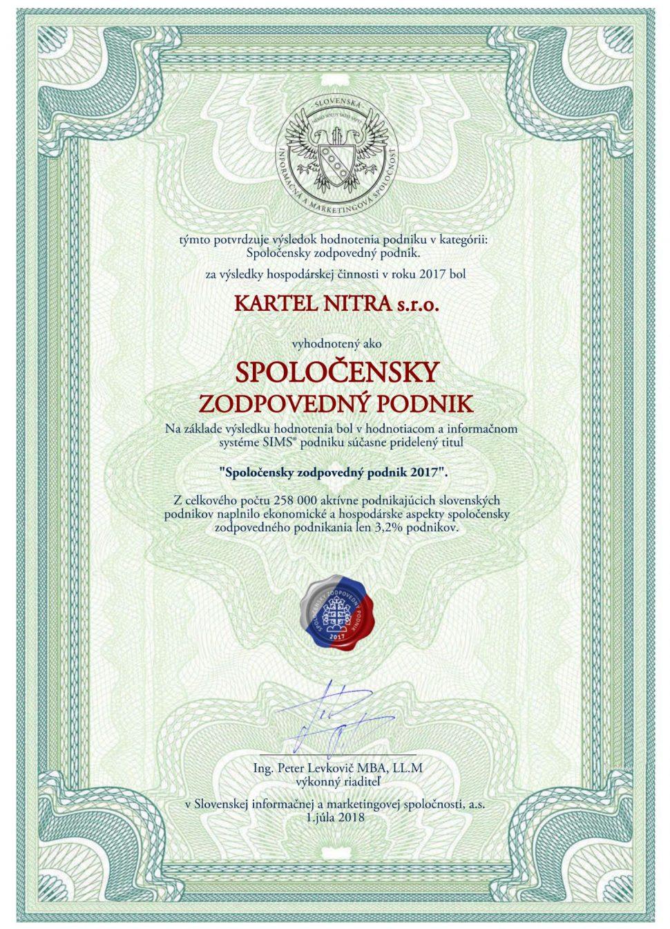 Kartel Nitra - stavebniny